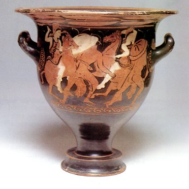 Attic krater from Tomb 49 at Baza