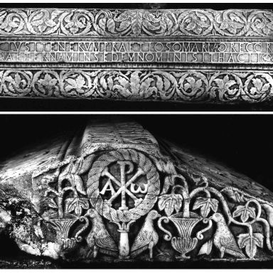 Lid of the sarcophagus of Ithacius